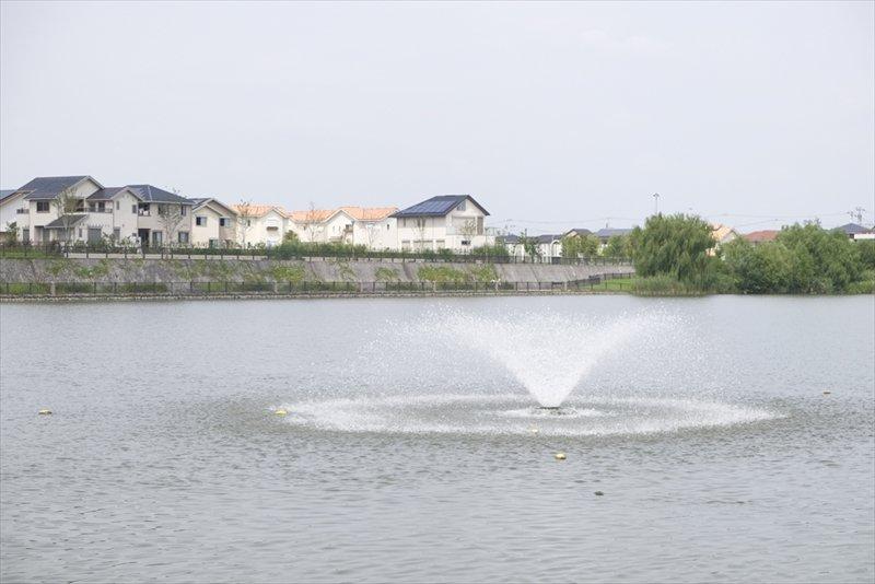 大相模調節池の噴水