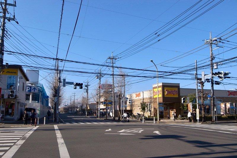 拡張予定の「上野台中央線」が交わる「市役所前」交差点