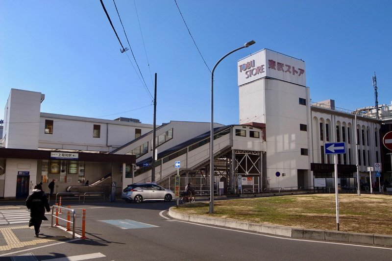 「上福岡」駅東口の様子
