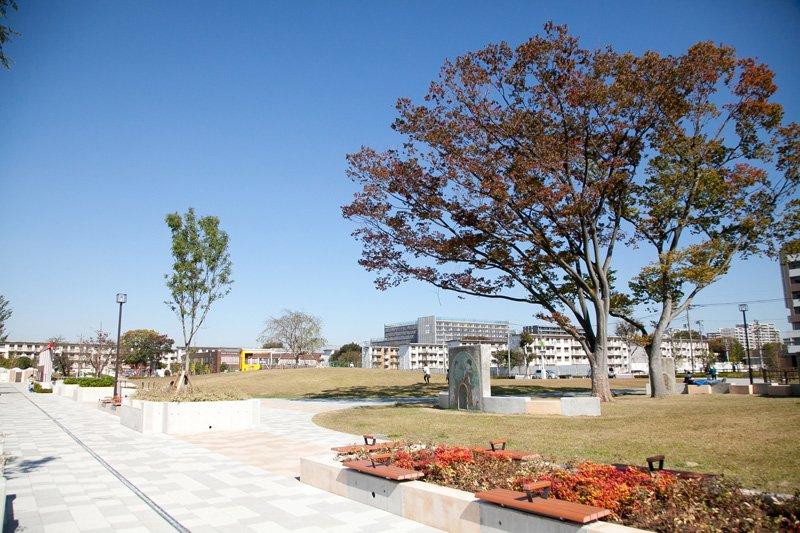 「松原団地記念公園」開園で街の緑が充実
