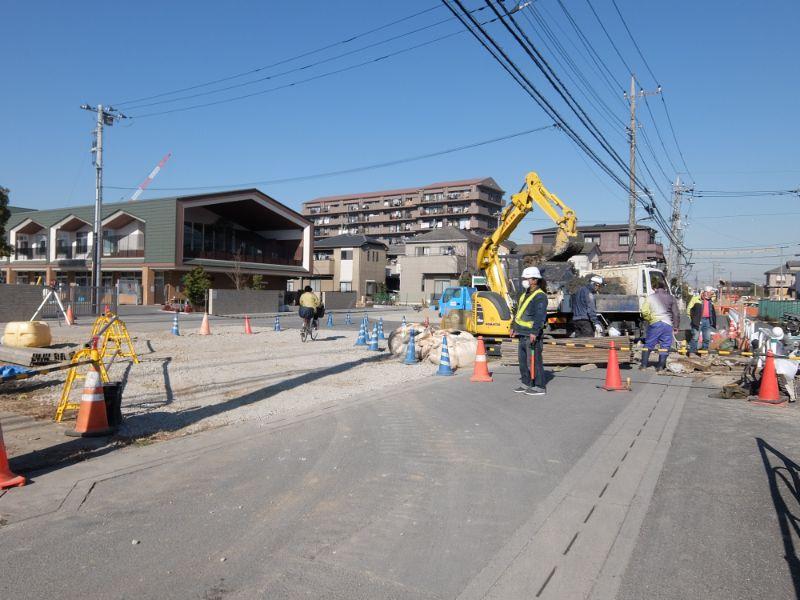 新田幼稚園付近の道路開発