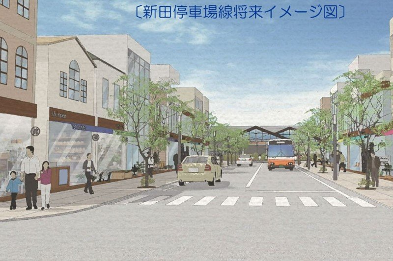 「新田停車場線」将来イメージ図