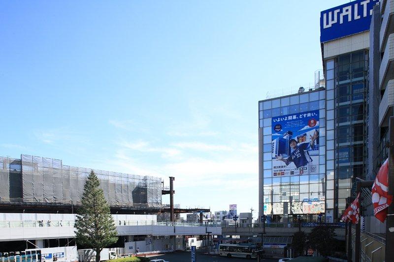 発展の続く「所沢」駅前